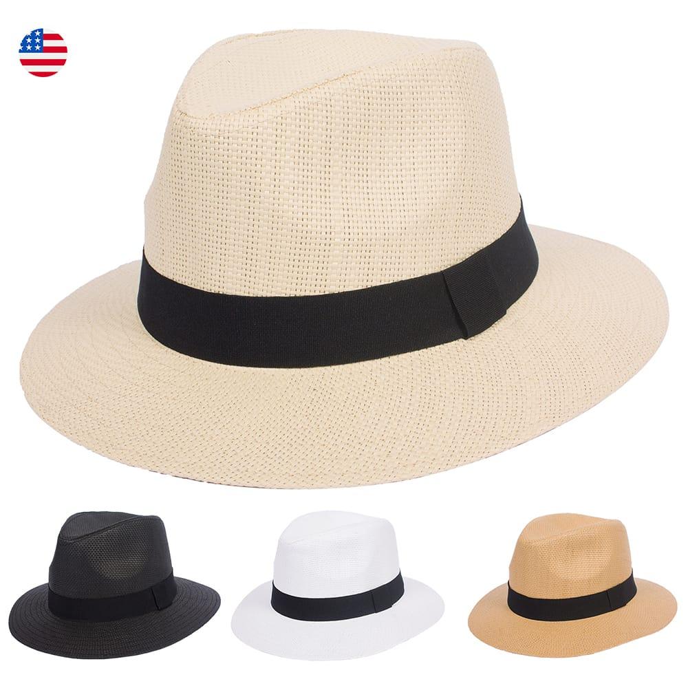 673c9993 Panama Hat Large Wide Brim Straw Fedora | DRY77
